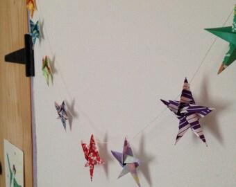 String of Origami Stars