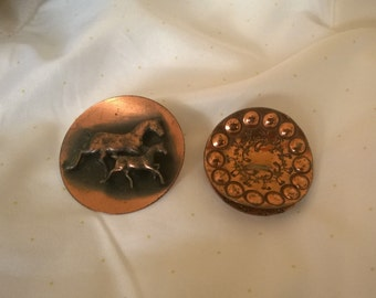 Vintage Copper Brooches