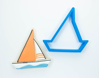 Modern Sailboat Cookie Cutter
