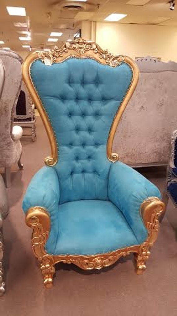 Isaiahfurniture 6 Ft Tall Throne Chair French Baroque