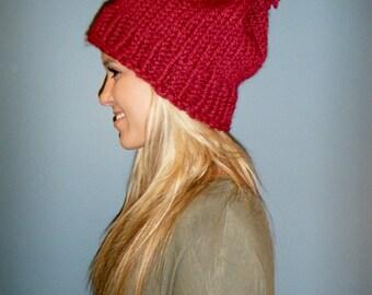Slouchy Knit PomPom Hat