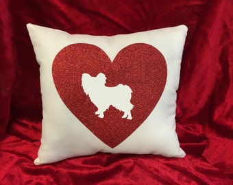 Papillon Throw Pillow (try saying that three times fast!) :).  Great gift for the Papillon dog lover!