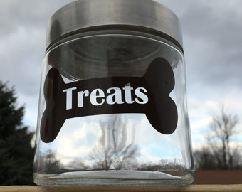 Personalized Dog Treat Jar Label, Vinyl Dog Treats Jar Label