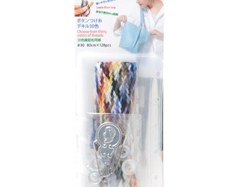 LEONIS 30 Colors Extremely Strong & Much Thicker, Button and Craft Sewing Thread Kit [ 93007 ]