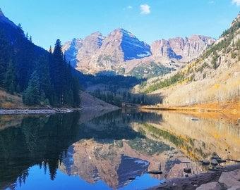 Landscape Photography, Mountain Photography, Wall Art, Home Decor, Colorado Art, Natural Beauty, Maroon Bells Colorado, Outdoors Art