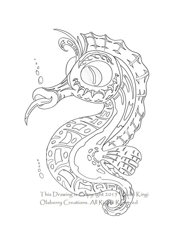 baby seahorses coloring pages - photo#41