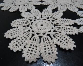 Antique, Handmade Bulgarian Crochet Doily