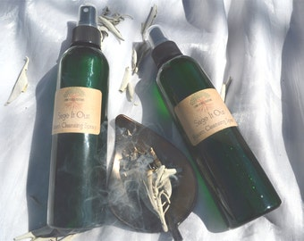 Sage It Out Room Cleansing Spray, Smudge Spray, Room Clearing Spray, Spiritual Cleanse, Energy Clearing, House Cleansing, Holistic Gift