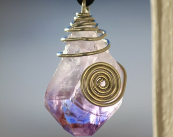 Celtic Spiral Amethyst Pendant