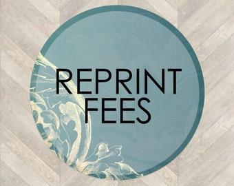 Reprint Fees