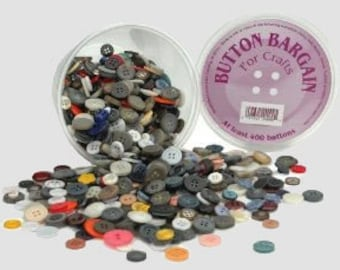 Buttons - Assorted Sizes & Colors