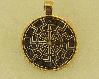 Amulet Pendant Black Sun