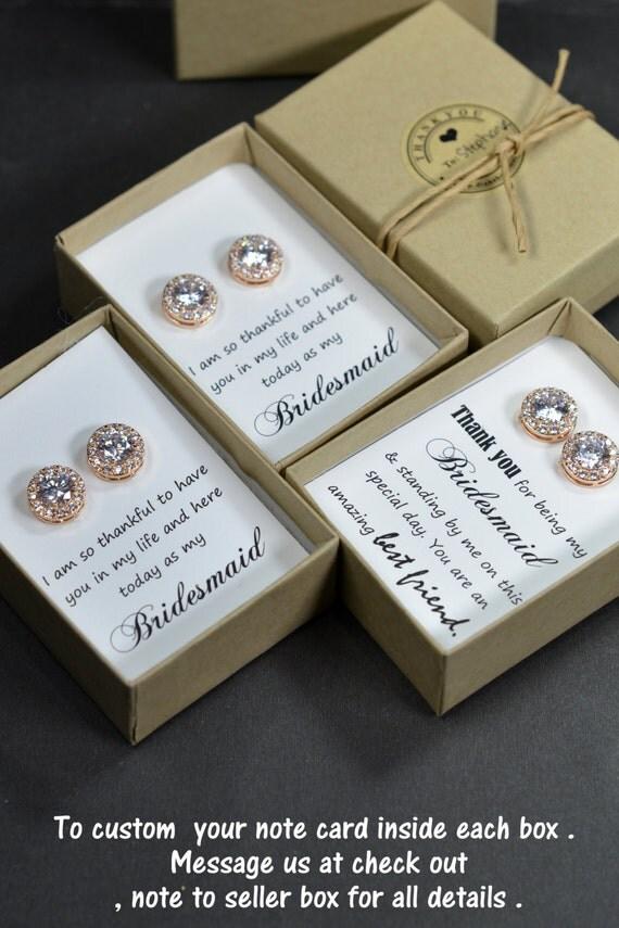 Rose Goldbridesmaids Earringspersonalized By