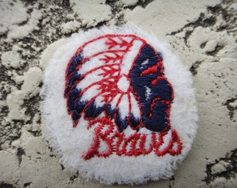 vintage Indian head  bears patch 1950 old patch sports 1950 vintage bears  patch