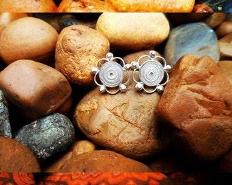 Colombian filigree, silver earrings