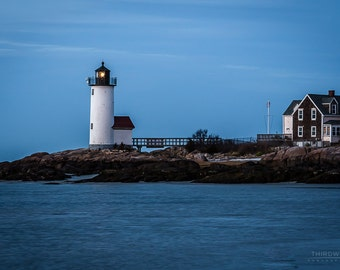 Landscape Photography - The Evening At Anisquam  Lighthouse