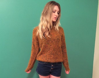 vintage 70s wool sweater small