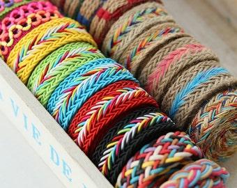 1 yard Cotton Ribbon Sewing Tape Label Print Ribbon Label-Hemp Rope, R096