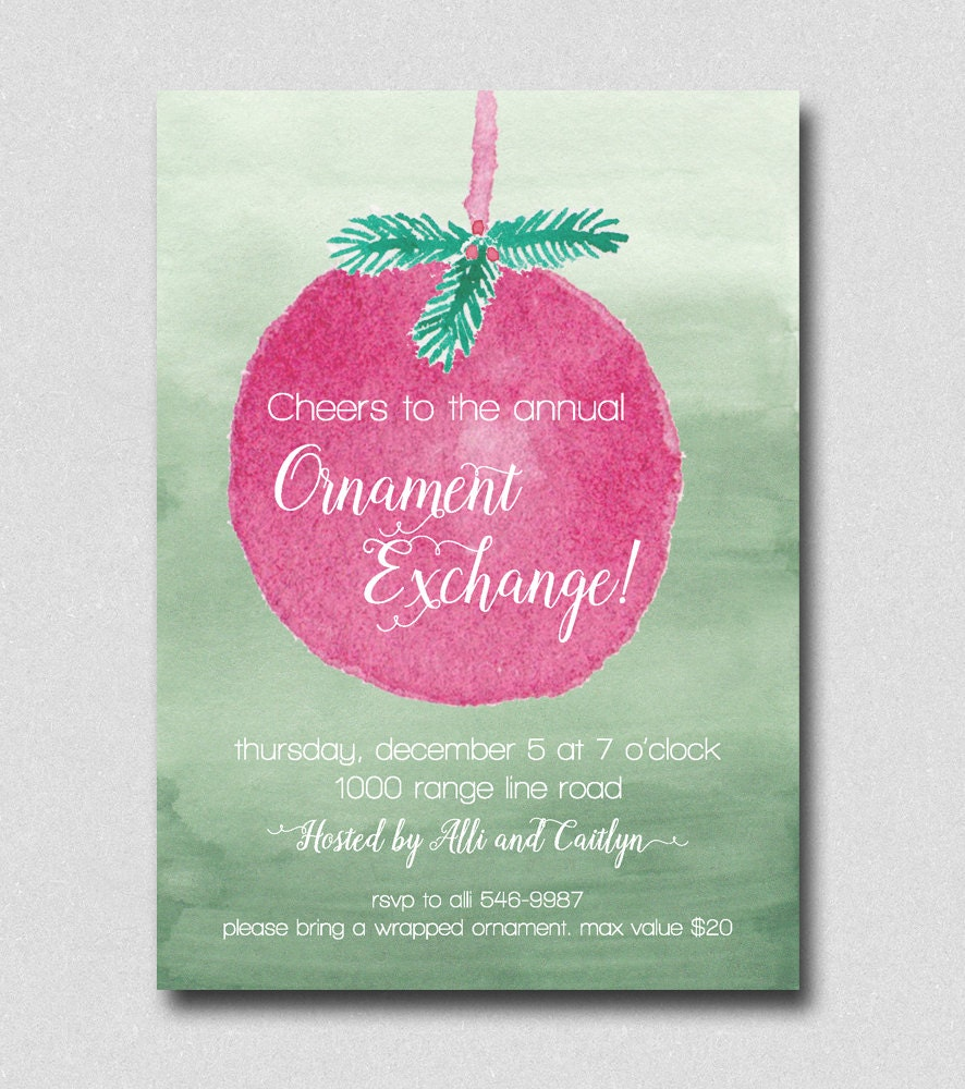 Ornament Exchange Party Invitations - All The Best Invitation In 2018