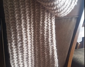 Super soft baby alpaca, bamboo scarf