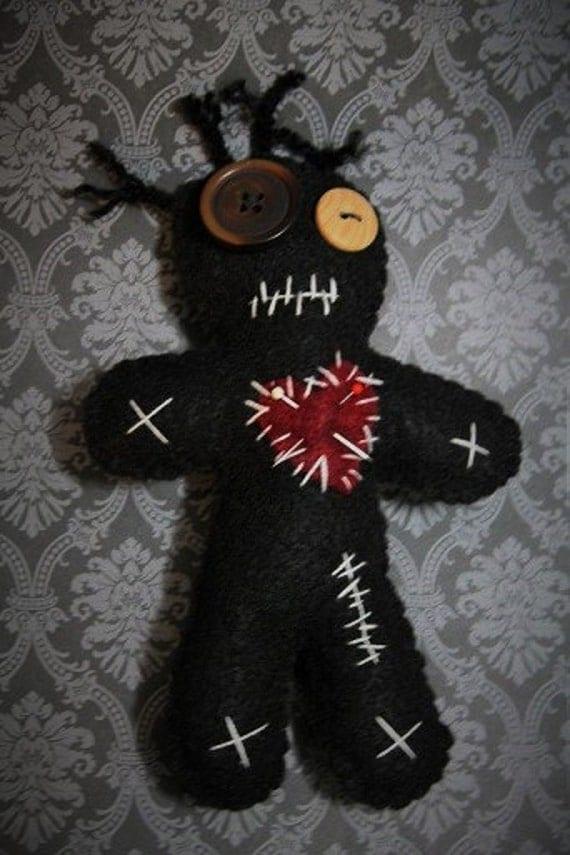 Voo Doo Doll-Black voodoo doll-Voodoo by BasketInTheBasement