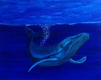 Whale at Night  (signed print)