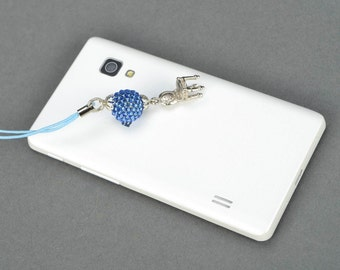 Beaded cell phone charm