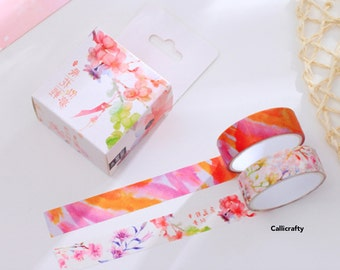 Watercolour Flower Pattern Japanese Washi Tape Masking Tape