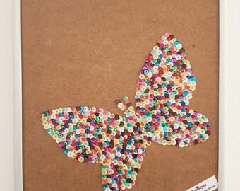 Sequin Butterfly design framework, 24 x 26 cm