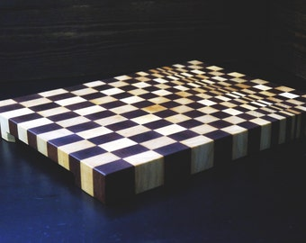 3d cutting board. 3d end grain cutting board. End grain cutting board. Professional cutting board.