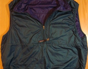 Rare Vintage Patagonia 90s Pullover Vest Aqua and Purple