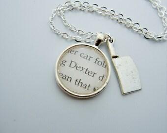 Dexter Morgan Book charm necklace