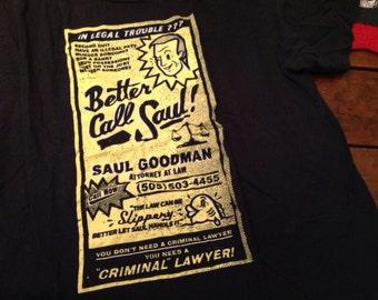Better Call Saul shirt XL