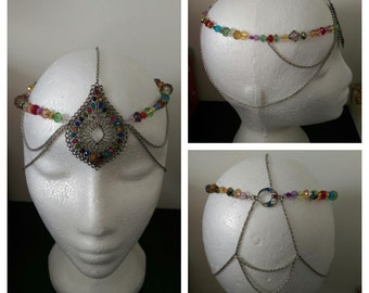Chain Headpiece, Rainbow