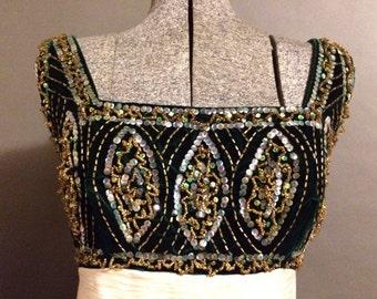 SALE!  1960's vintage size 14 empire waist evening gown