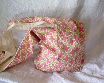 Pink/Green Pattern  Duck Canvas Tote