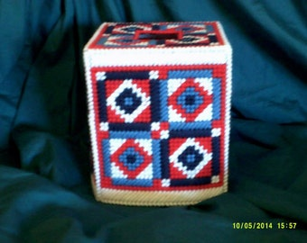 American Quilt Tissue Box Cover