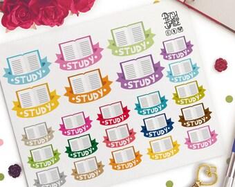Study Banner Planner Stickers |  Erin Condren | Study | University | College | School
