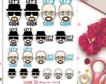 Walter White Breaking Bad Let's Cook Stickers   Planner Stickers   Heisenberg   PD054