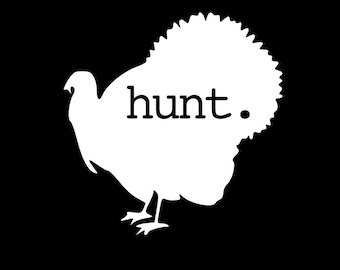 Turkey Hunting Decal Sticker Yeti