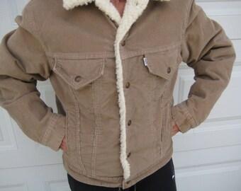 Vintage 80s Levi Tan Corduroy Jacket