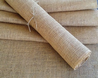 "Burlap Table Runner 12"" wide, Rustic/Country Wedding Reception Table Runner, Shabby Chic Decor, Rustic Home Decor, Party Table Runner"