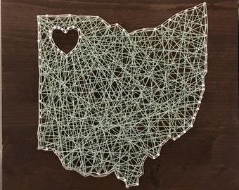 Ohio State Love - String Art