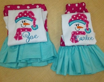 Snowman Ruffle Outfit