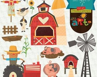 Barnyard A Clip Art Printable Graphics Collection
