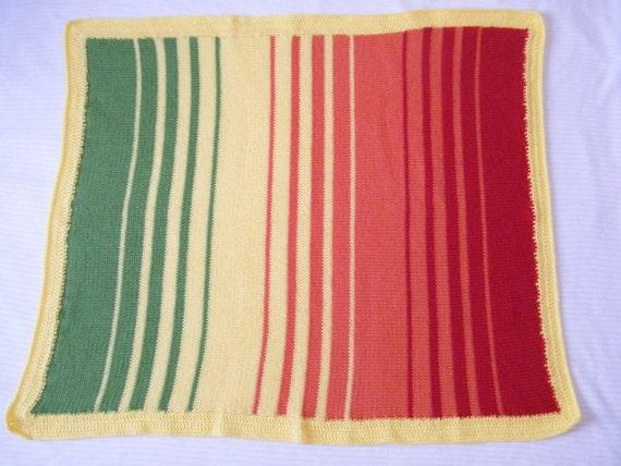 knit crib floor blanket hand knitted baby blanket blankets