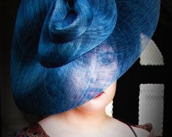 Large Brimmed Designer Sinamay Straw Hat