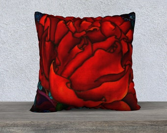 Peony, Pillow Cover,22x22in.