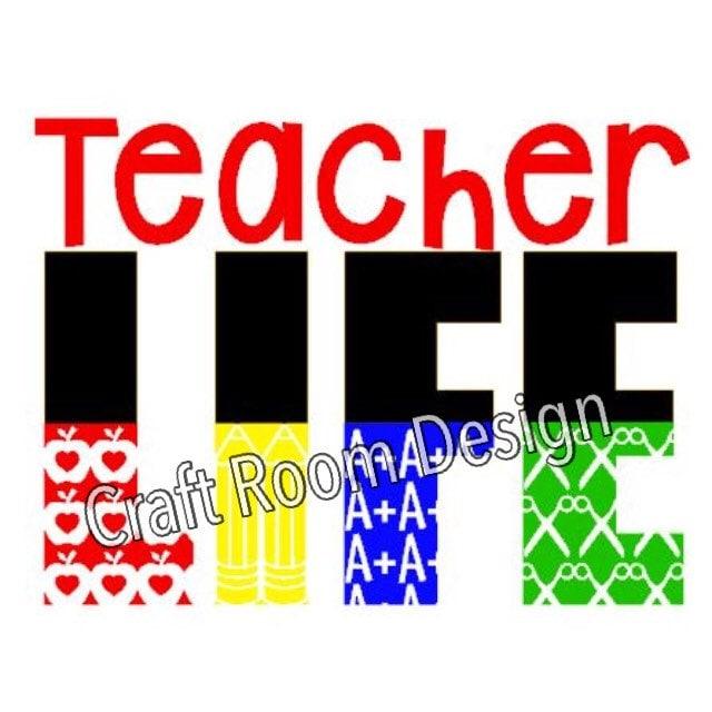Teacher Life Digital Design from CraftRmDesigns on Etsy Studio