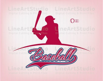 Baseball SVG Files - SVG Cutting Files - Cutting Files for Silhouette Cameo or Cricut - Instant Download -